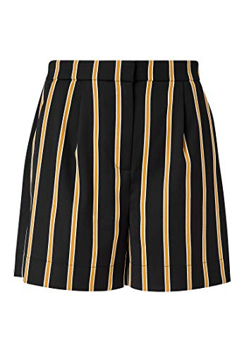 HALLHUBER Weite Shorts mit Streifenmuster weit geschnitten schwarz, 36