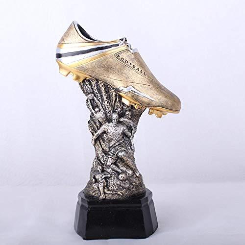 Ludage Accesorios para el hogar artesanías, Deportes Artes Eurocopa fútbol Zapato Trofeo Resina Adornos Inicio Accesorios 18 * 11.8 * 30.8 cm de Resina