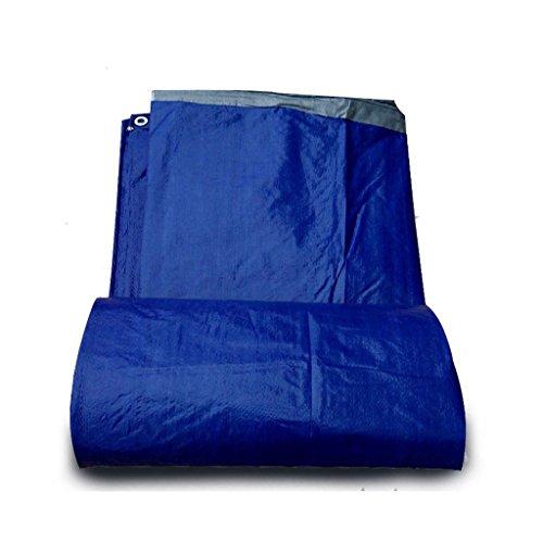 ZZYE Lona Tarpaulin Impermeable Protector Solar Espeso Lluvia camión cobertizo cobertizo Lluvia Triciclo Lluvia Tela Tela Lona Personalizada, Azul + Gris, Grosor 0.25mm, 140 g / m2 Lona Impermeable