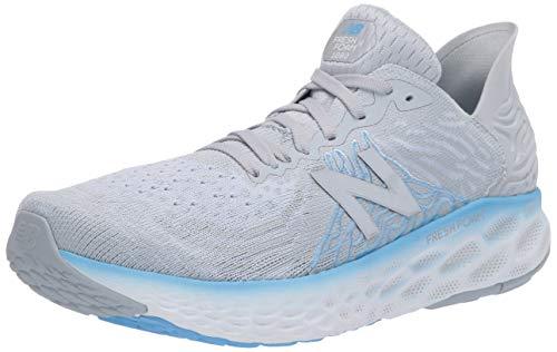New Balance Women's Fresh Foam 1080 V10 Running Shoe, Light Cyclone/Team Carolina, 7 X-Wide