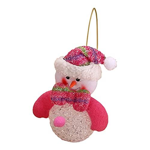 Danbai Linterna de muñeca de Navidad de Colores Brillantes, muñeco de Nieve Intermitente, Oso de Cristal, muñeco de Nieve Eva, Decoraciones navideñas Ligeras (B, Same)