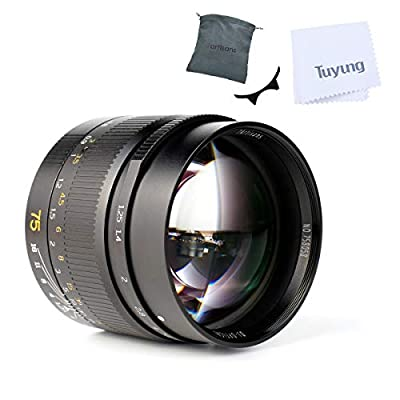 7artisans 75mm F1.25 Manual Focus Fixed Mirrorless Camera Lens for Leica M-Mount Cameras Compatible for Leica M-M Leica M240 Leica M3 Leica M6 Leica M7 Leica M8 Leica M9 Leica M9p Leica M10 by 7artisans