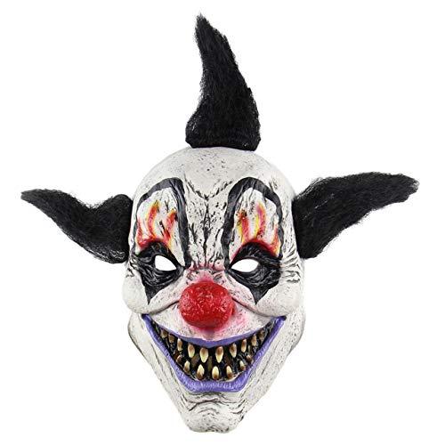 Faletony Scary Clown Maske Horror Gruselig Latex Clown Masken Halloween Kostüm Requisiten Gesichtsmaske Kopfmaske für Karneval Fasching Fastnacht Party