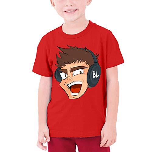VJSDIUD Lazarbeam Teenager Hipster Camiseta de Manga Corta Negra