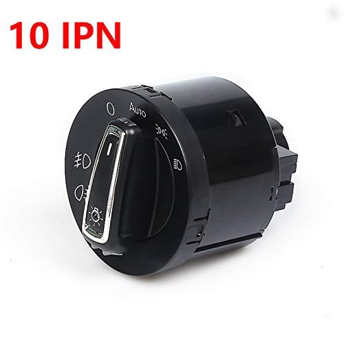 Interruptores de coche y relés para faros delanteros con sensor de luz de repuesto 3BD941531 para VW Golf Jetta B6 MK5 MK6 Tiguan Touran Passat Polo Bora (color 10 pines)