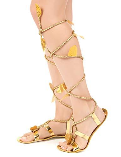 DEGUISE TOI - Sandales Romaines avec Cordon Femme - Taille Unique