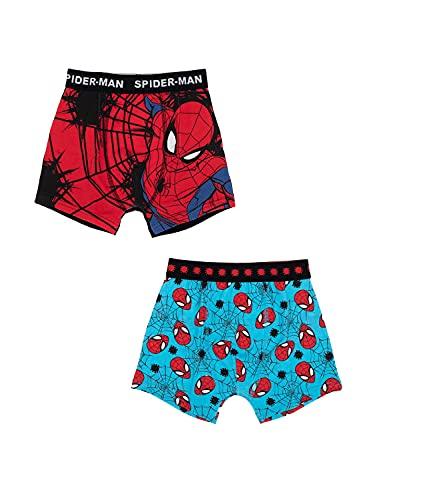 2er Pack Spiderman Jungen Boxershorts Kinder Unterhosen 116-122 / Mehrfarbig