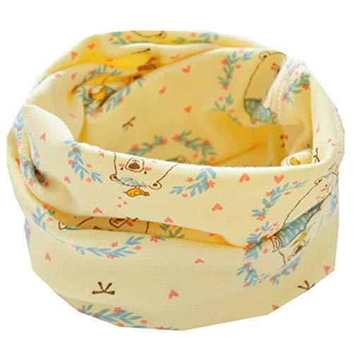 Nueva Primavera Otoño Invierno Niños Bufandas Algodón LIC Bufanda para Bebés Niños Niñas Bufandas Encantadores Collares para Niños Bufanda De Anillo O para Niños - Oso Amarillo