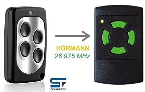 Handsender für Hörmann 26,975 MHz HSM 4 - HS 4 Garagentoröffner - Funk Sender 26.975 - Fernbedienung 27