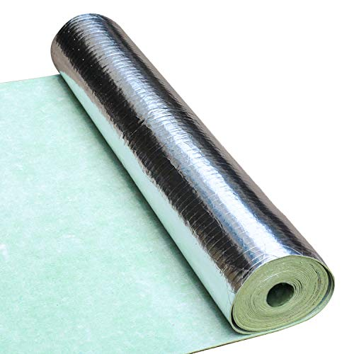 Bubble Silver Foil Rubber Underlay Wrap Insulation-Floor Loft Wall Boat Motorhome Shed Suitable for use in Walls Floors and Roofs