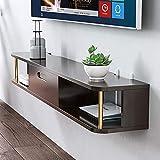 KELITINAus Tv Set-Top Shelf Stuff Light Living Room Wall Wall Wall Dormitorio Moderno Simple Solid Wood Gabinete de Tv