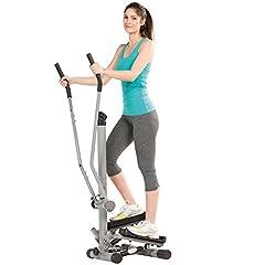 maxVitalis Side Stepper voor thuis, fitnessapparatuur voor gezamenlijke training, duurtraining & spieropbouw, hometrainer voor hele lichaamstraining, geschikt voor senioren, incl. trainingscomputer*