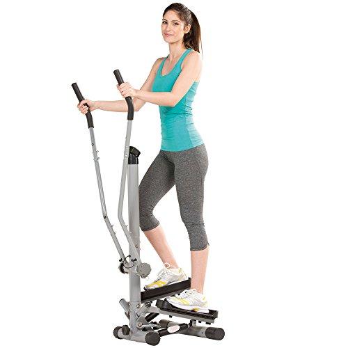 maxVitalis Side Stepper für Zuhause, Fitnessgerät für gelenkschonendes Training, Ausdauertraining & Muskelaufbau, Heimtrainer für Ganzkörpertraining, Senioren geeignet, inkl. Trainingscomputer