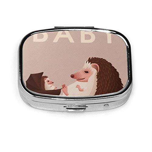 Französische Bulldogge Hund benutzerdefinierte Mode Silber quadratische Pille Box Medizin Tablettenhalter Brieftasche Organizer Fall für Tasche oder Geldbörse Vitamin Organizer Halter dekorative Box