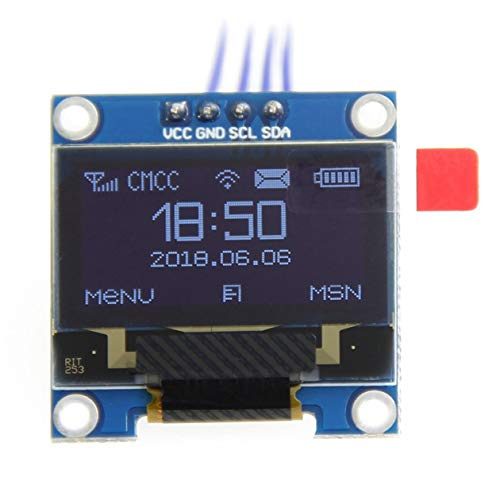 Nowakk 1pc White Color 0.96 Inch Oled Display Module 128x64 Oled Lcd Display I2C 0.96 Iic Serial 128x64 Replacement - White