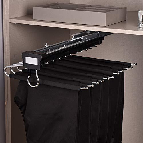 KKYY 11 Bras Porte-Pantalons Coulissant, Cintres de Pantalon, Cintres Magiques, Organisateur de Vêtements pour Garde-Robe (Couleur Multiple)