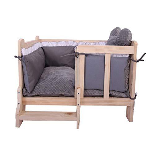 FCXBQ Pet Sofa Sofa Dog Sofa Bed Sofa Wooden Comfortable Room Living Room Cushion Washable Pet Basket Mat Easy to clean