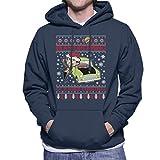 Mr Bean Dreaming of A White Christmas Knit Men's Hooded Sweatshirt