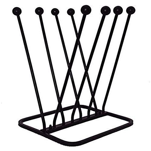 ARSUK Welly Eisen Booten Gestell Halter, Schuh Gestell Rahmen, Stilvoll und Praktisch Booten Stand (Brauchen zu Montieren Vor Verwenden) (4 Paar Stiefel Zahnstange)