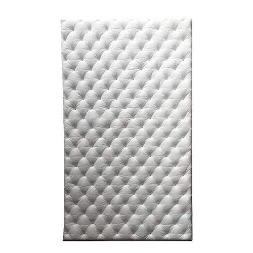 BEYTII 50x80cm de Chaleur étanche et Isolant sonore Pure Coton Mur Flamme Flamme Ignifuge boîte de Coffre-Fort de Plafond Auto-adhésif (Color : White)