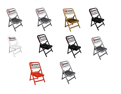 Wrestling Folding Chair 10-Pack (Multi-Color) - Ringside Collectibles Exclusive WWE Toy Action Figure Accessories