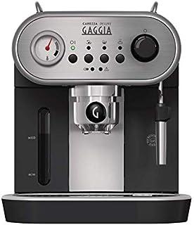 Gaggia Carezza Deluxe | Manual Pump Espresso Machine | Black/Silver
