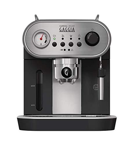 Gaggia RI8525 / 01 Carezza Deluxe Máquina de café expreso manual, para café molido y monodosis, gris / negro