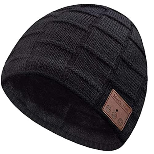 Bluetooth Hat, Music Wireless Kopfhörer Mütze, für Männer Ehemann, Jugendliche Jungen Papa Geschenke Freund Geeignetes Material Schwarz