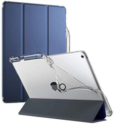 Apple iPad 10.2 2019 ケース - Apple iPad 10.2 インチ (2019年発売、第 7 世代 ) Poetic Lumos X シリーズスマートケース (2019 年 新デザイン) は、Apple Pencil ホルダー、柔軟性に長けるソフトクリア TPU バック、スリムフィットなスタンド、自動スリープ機能、 スマートキーボード、クリアン保護、インスタグラム 2000 以上のいいね、24 時間カスタマーサポート、30 日返金保証、2 年保証、ネイビーブルー