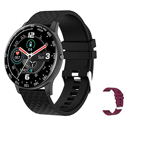 H30 Smart Watch Uomo E Donne Dial Dial Dial Electronic Smart Clock Fitness Tracker Sport Smartwatch per Android iOS Mobile,F