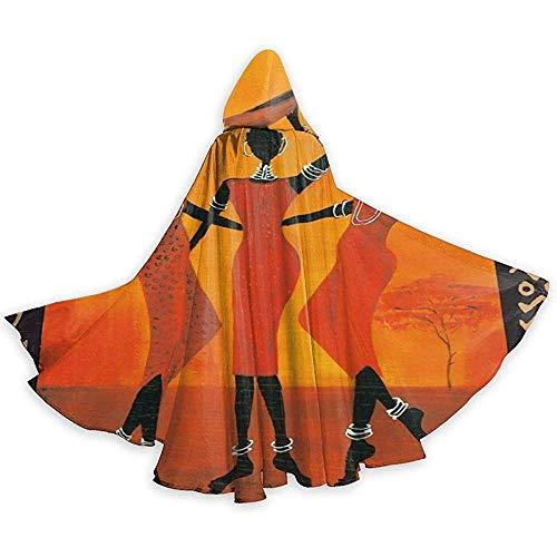 KDU Fashion Wizard Mantel, Afrikaanse Vrouwen Zuid-Amerikaanse stammen Populaire Duurzame Capuchon Capes Voor Jongens Meisjes Kinderen, 40x150cm