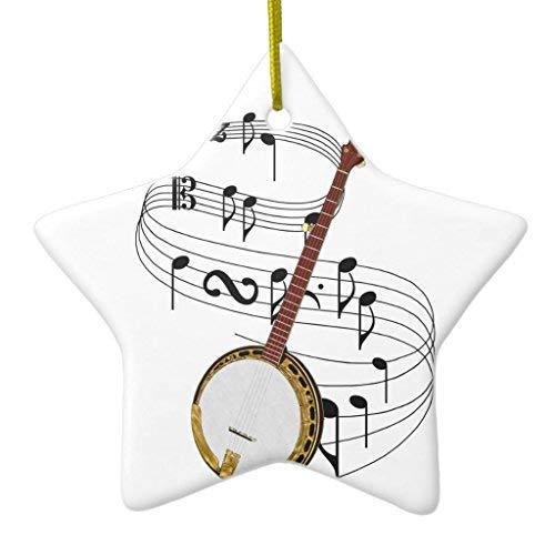 Cheyan Banjo Christmas Ornament Star Ceramic 3 inch