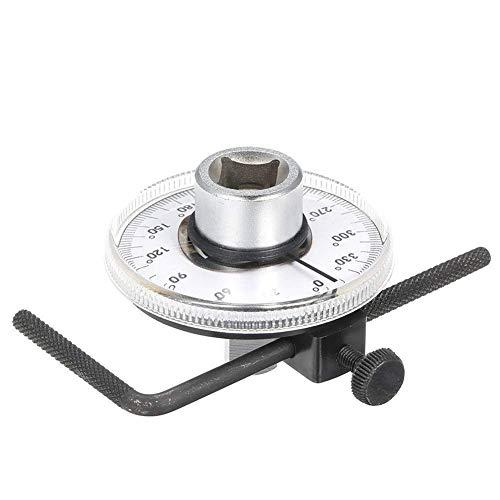 Hoekkoppelmeter Verstelbaar 1/2 'Aandrijfkoppelhoekmeter Auto Meter Gereedschap Professioneel meetinstrument met moersleutel Accessoires Bevestigingsaansluiting Voor knutselen DIY