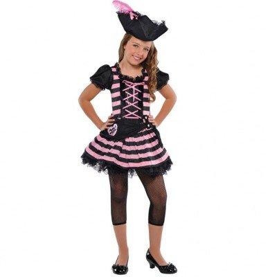 Disfraz de pirata rosa para niñas en varias tallas: Amazon.es ...