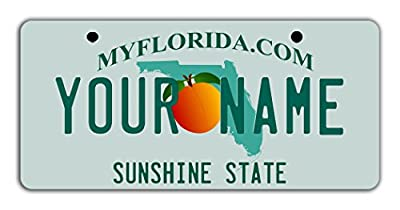 """BleuReign Personalize Your Own Florida State Bicycle Bike Stroller Children's Toy Car 3""""x6"""" License Plate Tag"""