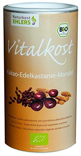 Amaranth und Quinoa Drink: Bio-Superfood Kakao-Edelkastanie-Mandel - 375 g Zweimonatspackung