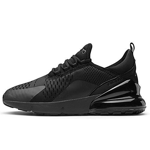TORISKY Sportschuhe Herren Damen Laufschuhe Air Cushion Luftkissen Sneakers Turnschuhe Fitness Gym Leichtes Bequem Schuhe(270-1-BK44)