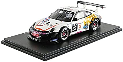 Spark–Porsche 911/997GT3R SP118Pro GT by Almeras–2012Spa 24Hours–1: 43Scale–White/Black/Orange