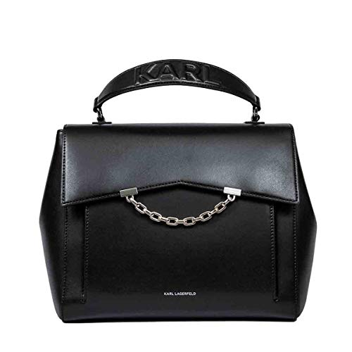 KARL LAGERFELD Luxury Fashion Donna 201W3048BLACK Nero Pelle Borsa A Mano | Primavera-estate 20