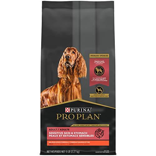 Purina Pro Plan Sensitive Stomach Dry Dog Food, FOCUS Sensitive Skin & Stomach Salmon & Rice Formula - 5 lb. Bag