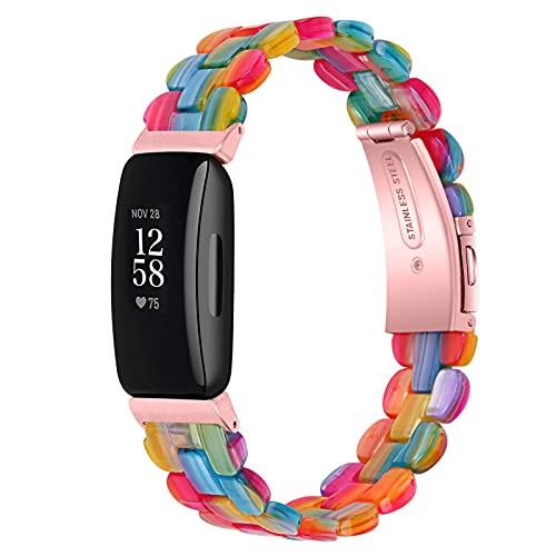 TopTen Correa de reloj compatible con Fitbit Inspire/Inspire HR/Inspire 2, pulsera ajustable de resina, accesorios de repuesto, For Inspire 2, Silicona,
