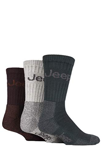 Herren 3 Paar Jeep Terrain Leisure Socken Geschenkbox - Sortiert 40-46