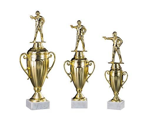 RaRu 3er-Serie Schützen-Pokale mit Wunschgravur