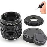 Pixco Lente CCTV de 35 mm f/1.7 para Nikon 1 para Pentax Q FUJI FX + adaptador de montaje en C a cámara con soplador de polvo (para Nikon 1)