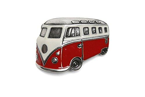 VaModa Gürtelschließe Wechselschließe Gürtelschnalle Buckle Modell 'Bus Rot'