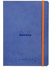 Rhodia 117701C Rhodiama notitieboek (met zacht deksel in formaat DIN A4+, 220 x 297 mm, 80 vellen, microgeperforeerd, gelinieerd, met elastiek, bladwijzer, elastische binnenvak)
