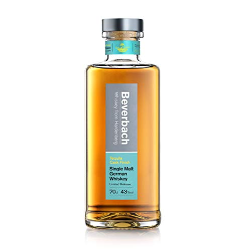 Beverbach Tequila Cask Single Malt German Whiskey - 6 Monate im Tequila-Fass - deutscher Single Malt Whisky mit dezenten Holz- und Lagernoten, feine Anklänge grüner Frucht