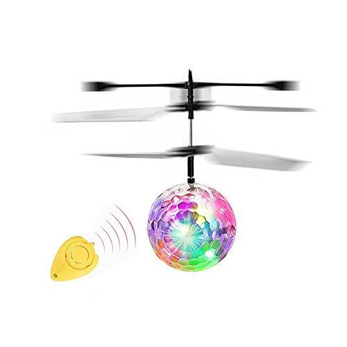 homese Fantastische neue Mode-Infrarot-Induktions-Drohne, die Flash-Disco buntes glänzendes LED-Beleuchtungs-Ball-Hubschrauber-Kind-Kind-Spielzeug-Gesten-Sensing keine Notwendigkeit, Fernbedienung