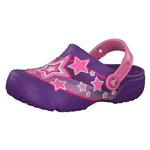 crocs Mädchen Sandale Fun Lab Shooting Stars Clog G 205950 Neon Purple 29-30