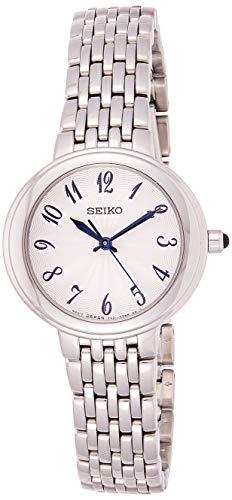 Seiko dames analoog kwarts horloge met roestvrijstalen armband SRZ505P1